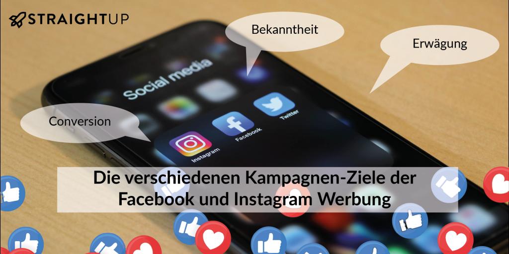 Die verschiedenen Kampagnen Ziele der Facebook und Instagram Werbung